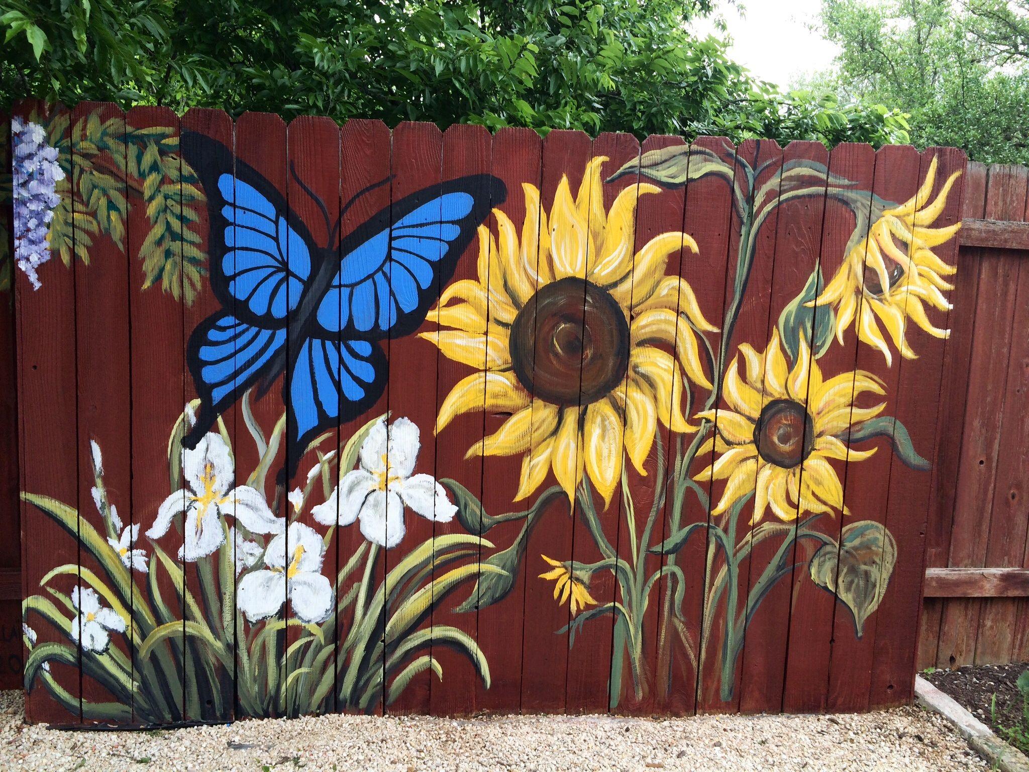 Garten Landschaftsbau · Part Of Three Panel Painted Fence That I Painted .  Www.facebook.com/