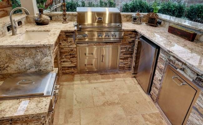 Best Outdoor Kitchen Countertops: Pros & Cons Compared | White ... on granite kitchen remodel ideas, granite outdoor kitchen countertops, granite kitchen cabinets, granite outdoor fireplaces, granite kitchen design ideas, granite kitchen islands,