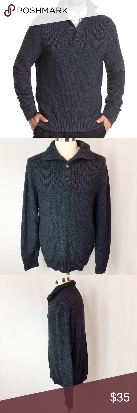 """⭐️Host Pick⭐️ Banana Republic Factory Sweater 1 small spot on the back where fibers are lighter - not damaged, just a natural shade difference.   Chest 48"""" Sleeve 26"""" Length 28""""  60% Cotton 30% Nylon 10% Virgin Wool  Thank you for looking! Banana Republic Sweaters"""