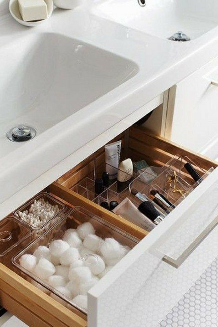Makeup Organisation Ideas Bathroom Storage Organising Cabinet How To