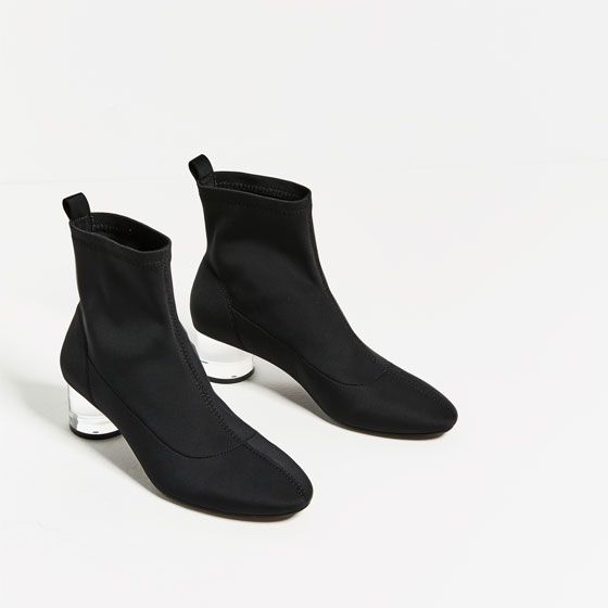 01f0d8c6123 Image 5 of ANKLE BOOTS WITH METHACRYLATE HEEL from Zara