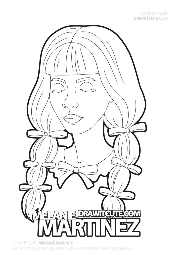 How To Draw Melanie Martinez K 12 Draw It Cute Coloringpages Howtodraw Melanie Melanie Martinez Drawings Melanie Martinez Coloring Book Melanie Martinez