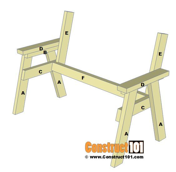 No Frills Workbench 4 Steps With Pictures: 2x4 Bench Plans - Step-By-Step - Material List