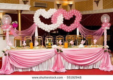 Valentine S Dinner Church Decorations Laid Wedding Banquet Table