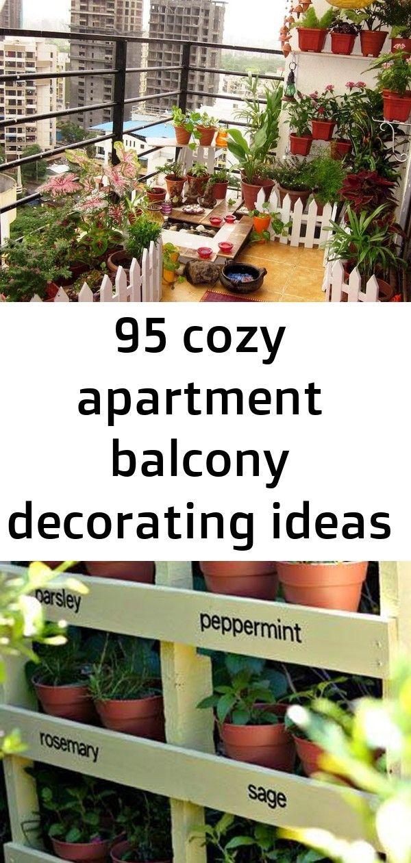 95 cozy apartment balcony decorating ideas 1 | Apartment ...
