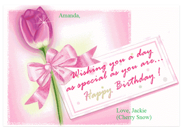 Happy Birthday Amanda Birthday Wishes And Images Happy Birthday Wishes Cards Happy Birthday Card Messages