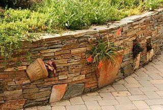 Murs De Jardin, Aménager Son Jardin, Terrasse, Mur De Pierre, Art De Galets,  Ruines, Jardinage, La Reve, Bordure