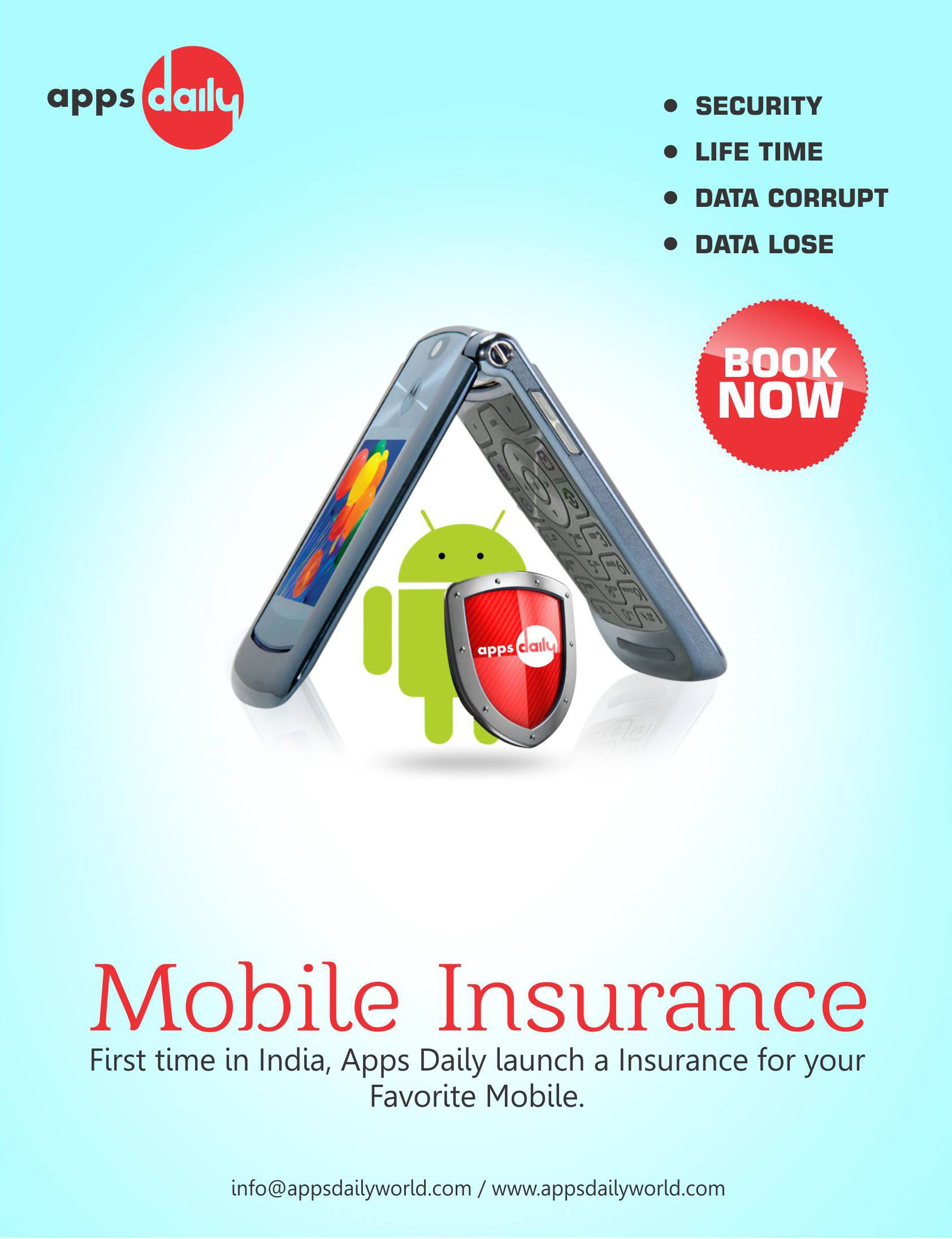Apps Daily Mobile Insurance. Creative words, App