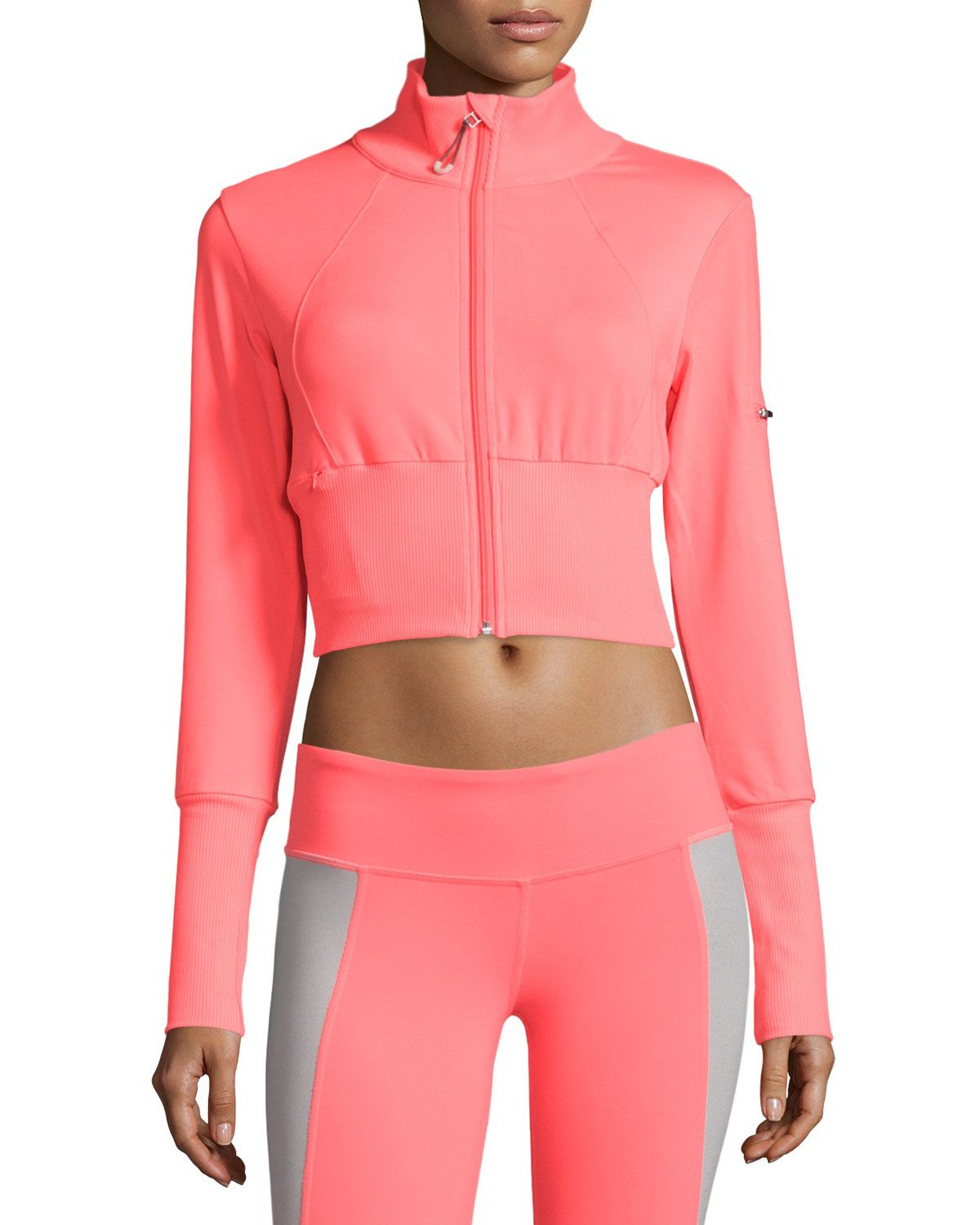 Alo Yoga Crush Cropped Bomber Jacket Neon Azalea Jackets Uk Bomber Jacket