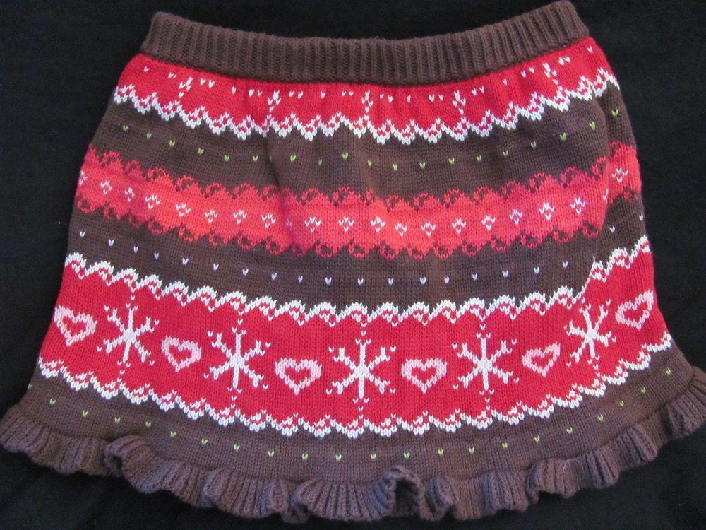 Gymboree Brown Red Fair Isle Knit Skirt 3T Winter Cheer #Gymboree ...