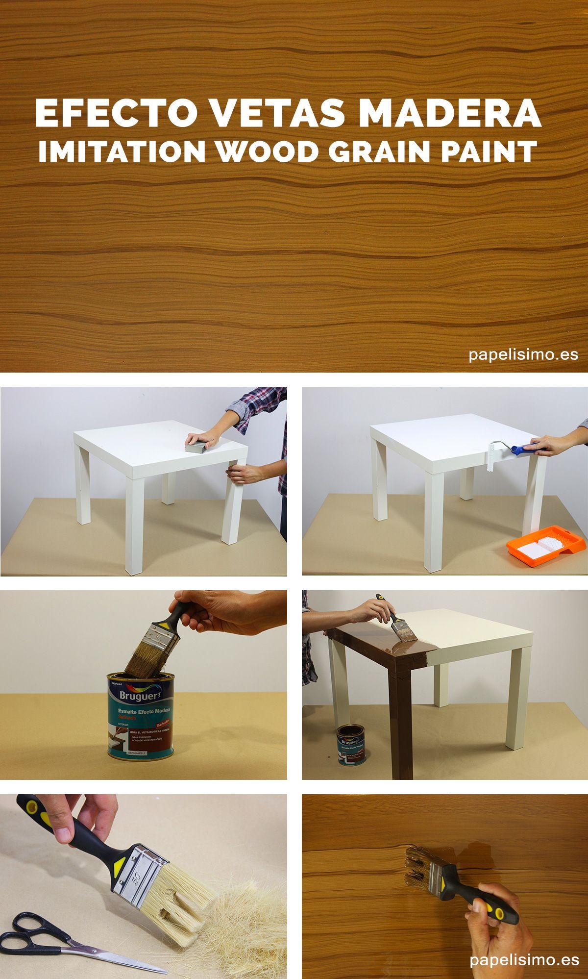 Imitar Efecto Vetas De Madera Imitation Wood Grain Paint  # Muebles Efecto Lavado
