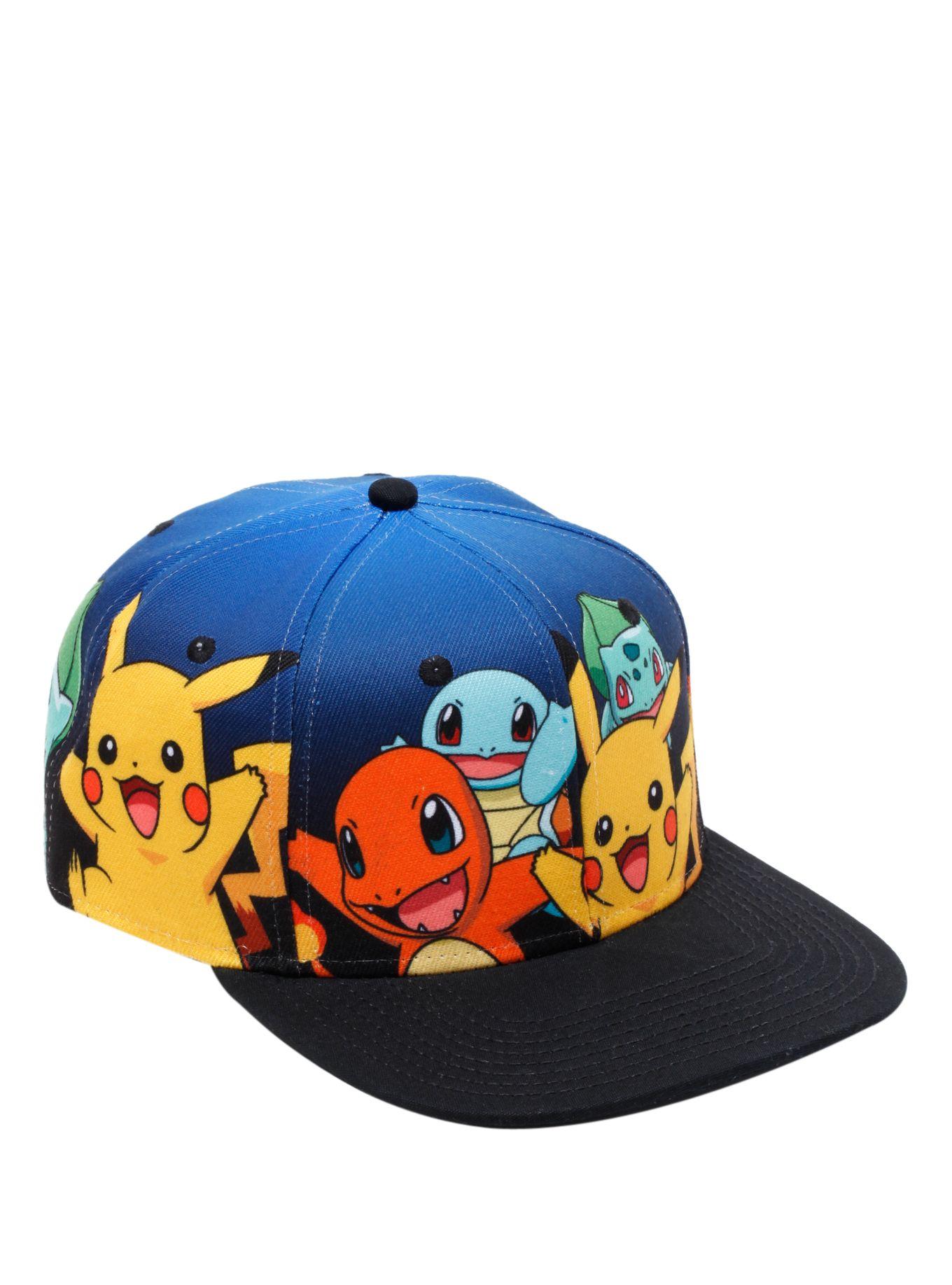 dae50d0e0 Pokemon Starters Snapback Hat | Gift Ideas For AJ | Snapback hats ...