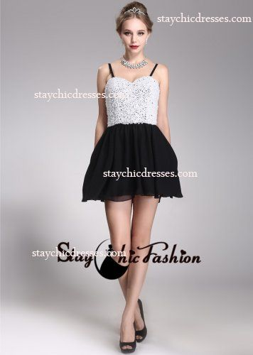 short spaghetti strap prom dresses