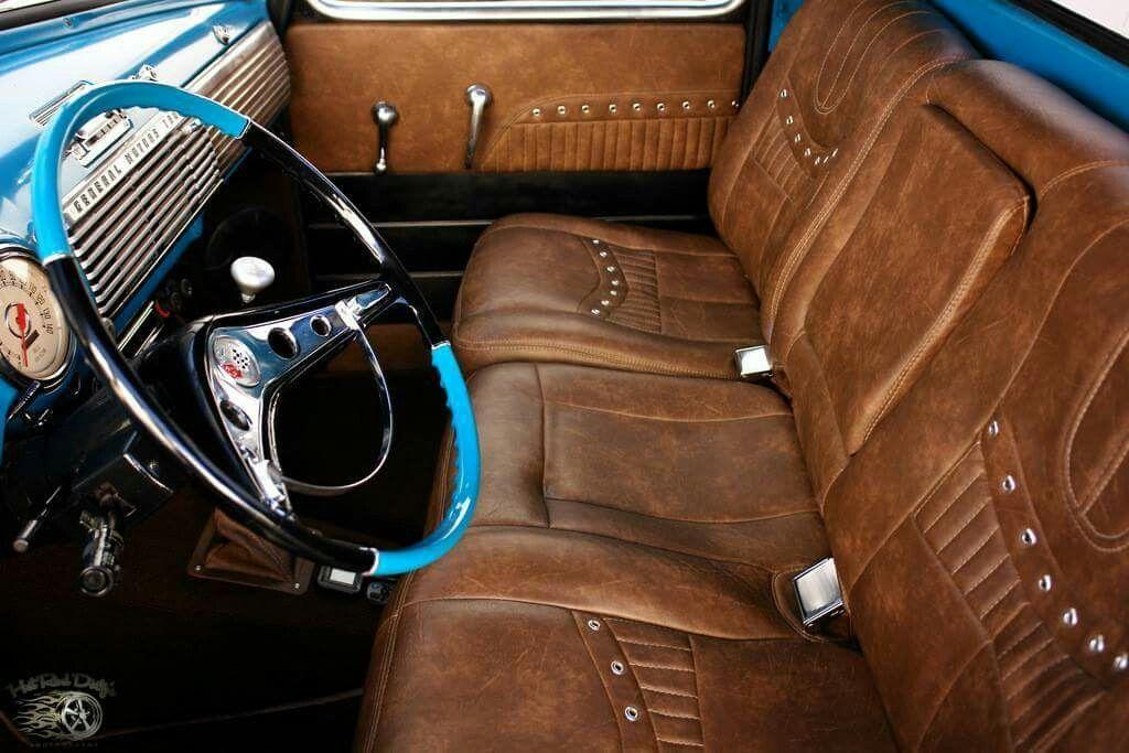 '50 GMC...'60'61 Impala steering wheel, beautiful seat