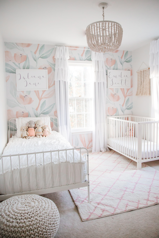 Shared Nursery Toddler Bedroom Toddler Girl Room Girls Bedroom Wallpaper Shared Girls Bedroom Toddler girls bedroom ideas