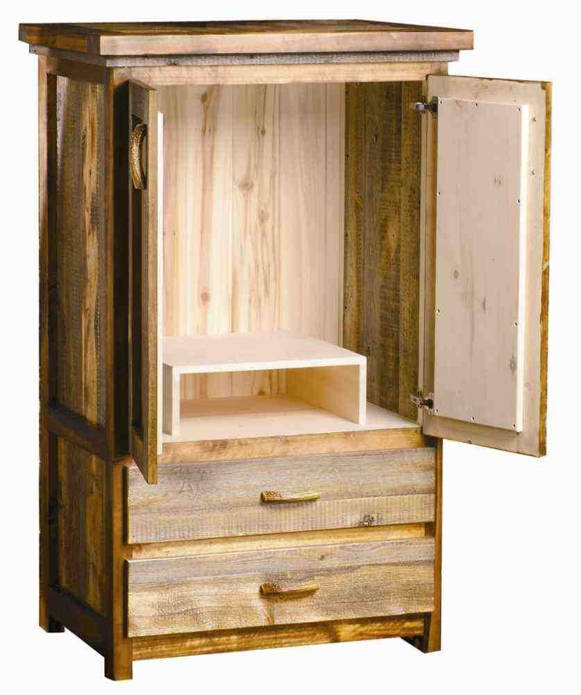 Solid Wood Tv Armoire Wood Armoire Tv Armoire Rustic Wood Tv armoire with doors and drawers