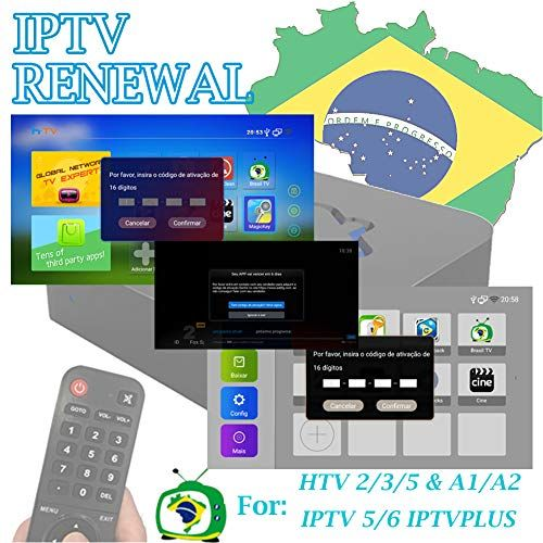 IPTV Brazil TV Box Renew Code Activation Code for A1A2 HTV1 3 4 5 IPTV 5 6 6 Plus 6  K