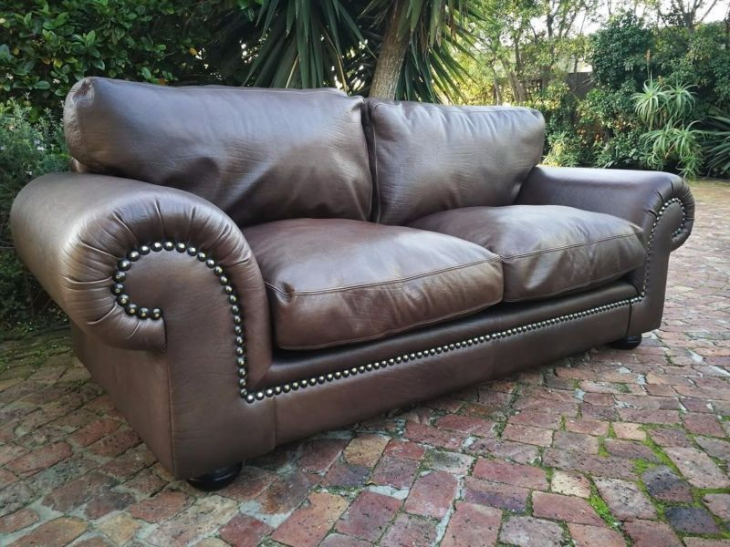Stunning Coricraft Afrique Leather Couch For Sale In Milnerton