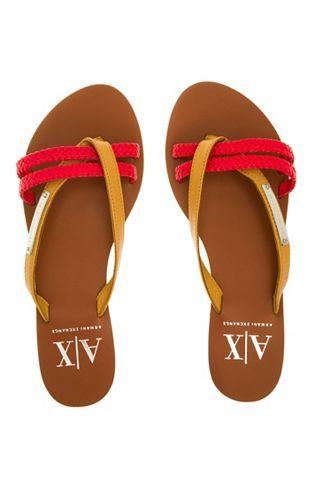 7694b3b862d Two Tone Braided Sandal - Accessories Shop - Womens - Armani Exchange