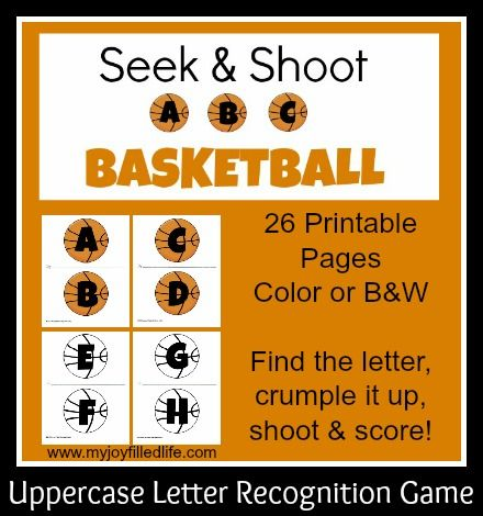 Seek  Shoot Abc Basketball  Letter Recognition Games Letter