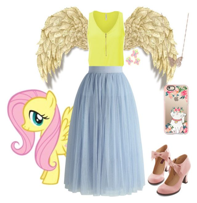 """MLP-Fluttershy"" by awesomeandsuperanna ❤ liked on Polyvore featuring Chicwish, My Little Pony, LC Lauren Conrad and Casetify"