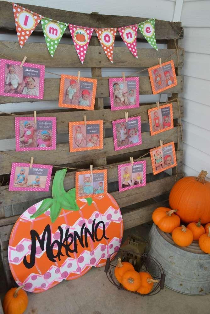 Pumpkins Fall 1st Birthday Birthday Party Ideas Birthdays