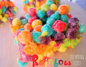 Sunny Days With My Loves - Adventures in Homemaking: Rainbow Trix Treats for St. Patrick's Day