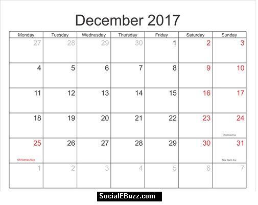 December Calendar HttpSocialebuzzComDecemberCalendar