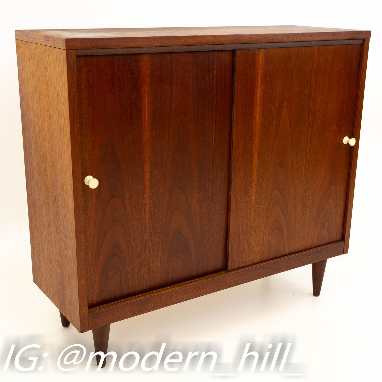Crescent Furniture Mid Century Walnut Console Media Cabinet In 2019 Mid Century Furniture Furniture Media Cabinet