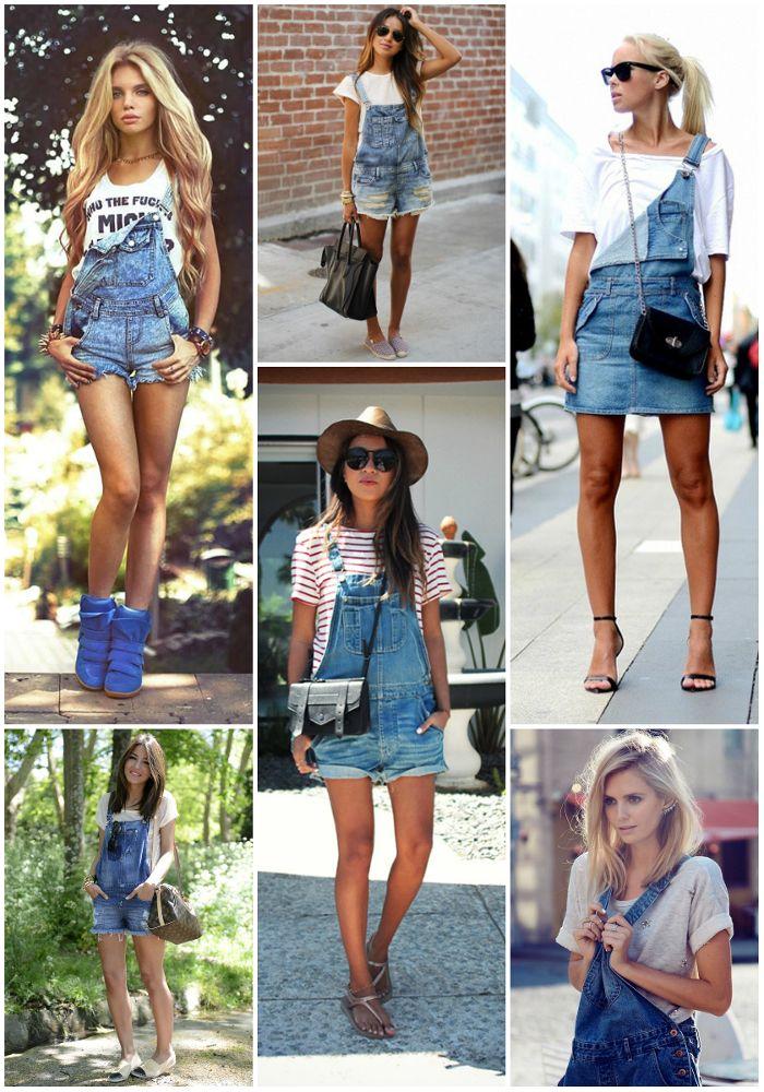Conhecido Jardineira jeans com camiseta | Macacão | Pinterest | Jardineiras  OT39