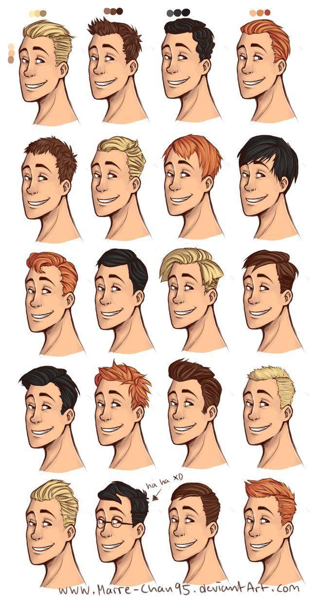 20 Diffrent Haircuts Cartoon Hair How To Draw Hair Drawing Male Hair