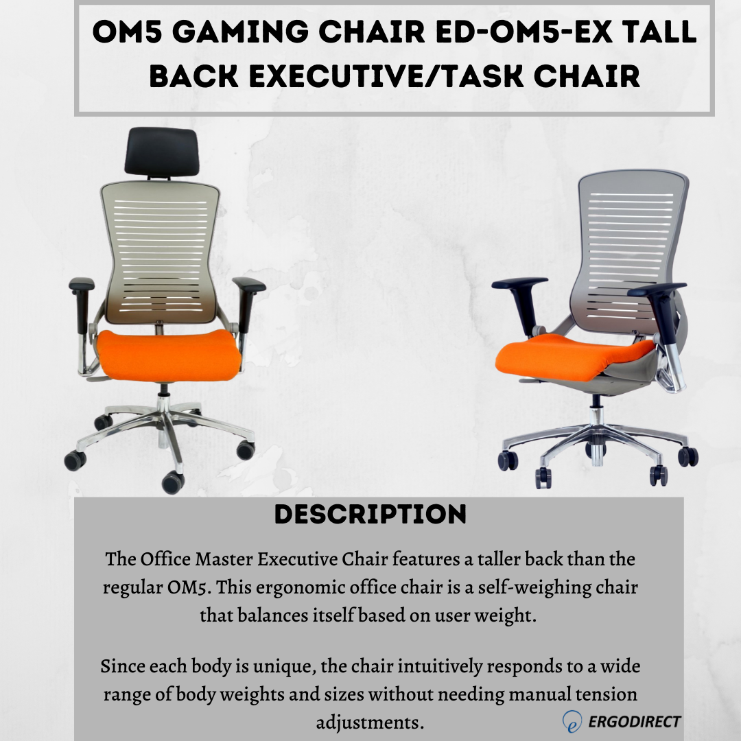 Om5 Gaming Chair Ed Om5 Ex Tall Back Executive Task Chair In 2020