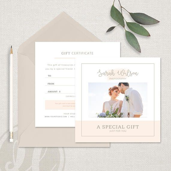 Photography Gift Certificate Template Wedding Photography ...