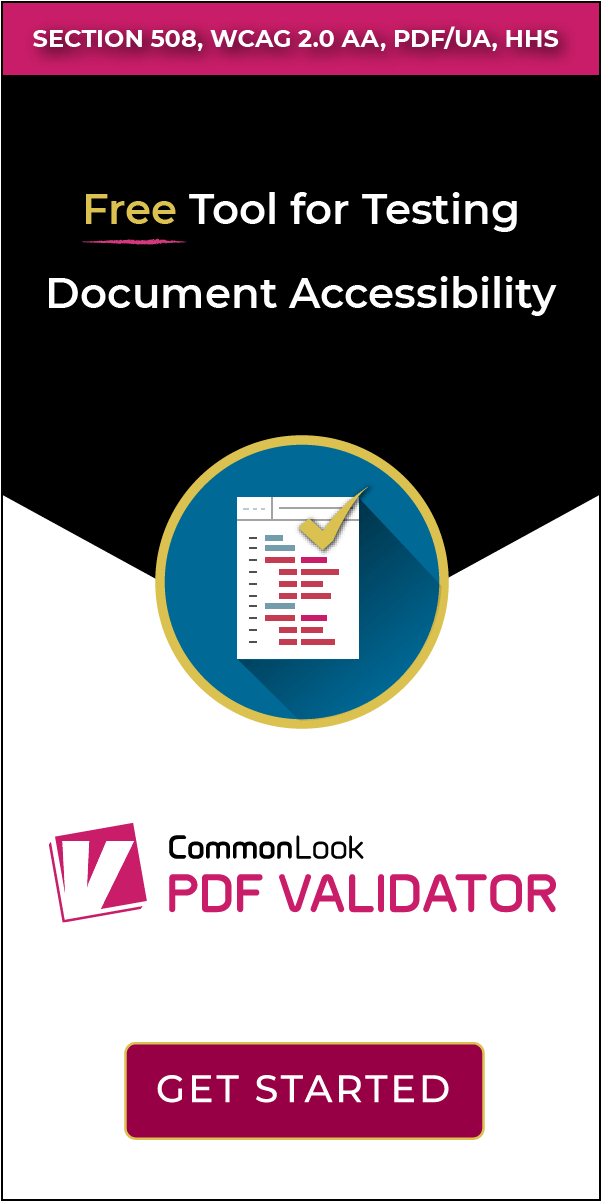 CommonLook PDF Validator   Free tools, Pdf, Section 508