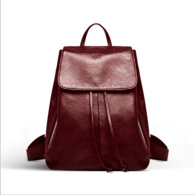 genuine leather backpack black leather bag high quality ladies ...