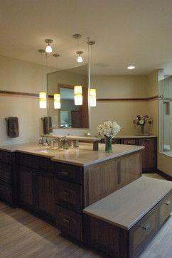 Floating Mirror Luxury Bathroom Remodel Contemporary Bathroom