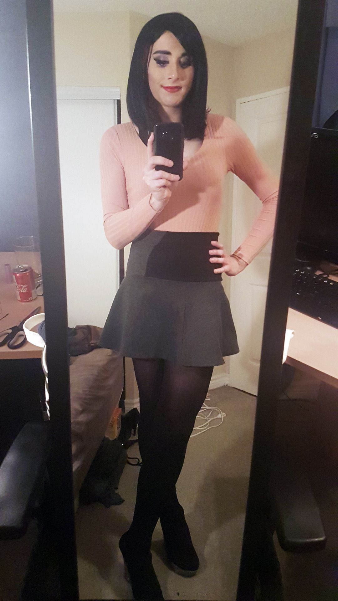 Sexy crossdresser pantyhose
