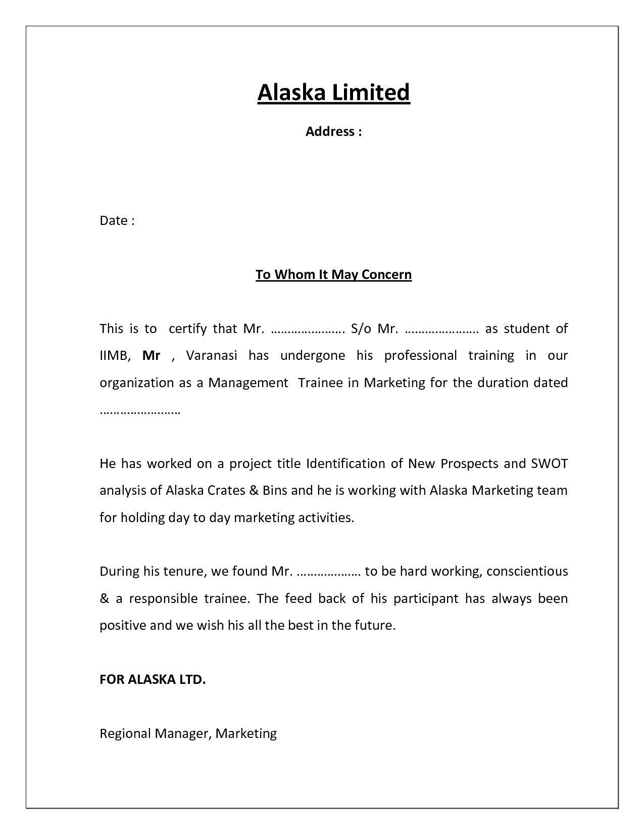 New Letter Format For Request For Bonafide Certificate