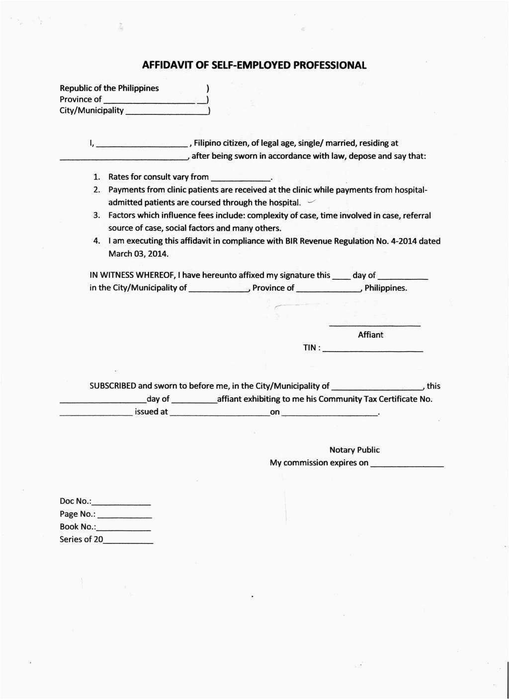 Sample Affidavit Form Cover Letter Template Sample Resume