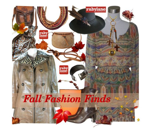 """Fall Fashion Finds with Rubylane.com"" by bamaannie ❤ liked on Polyvore"