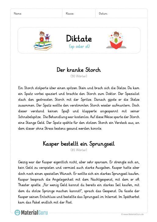 diktat sp oder st schule schule deutsch unterricht und deutsch lernen. Black Bedroom Furniture Sets. Home Design Ideas