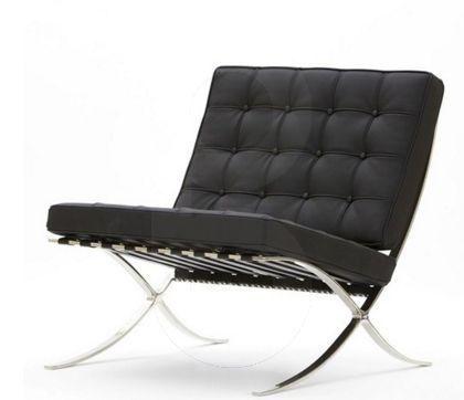 A76 1 Chair Black Biddi Pavilion Chair Lounge Chair Barcelona Chair