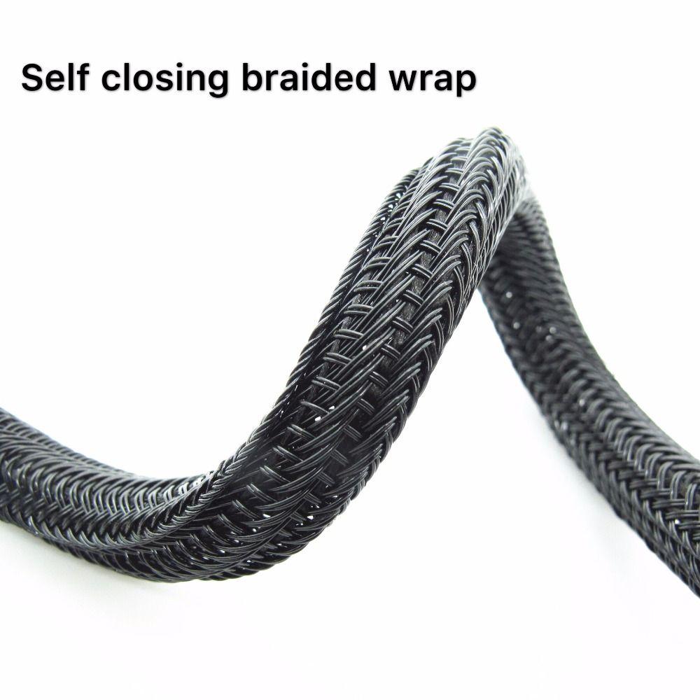 Only 13 59 1 4inch Id 6mm Length 20ft Flexo F6 Braided Cable Sleeving Wrap Split Loom Split Braided Sleeving Self Closing Braidd Wrap