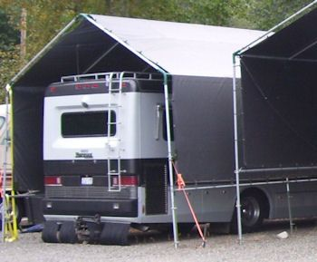 Make your own portable carport shelter kits long lasting for Rv garage packages