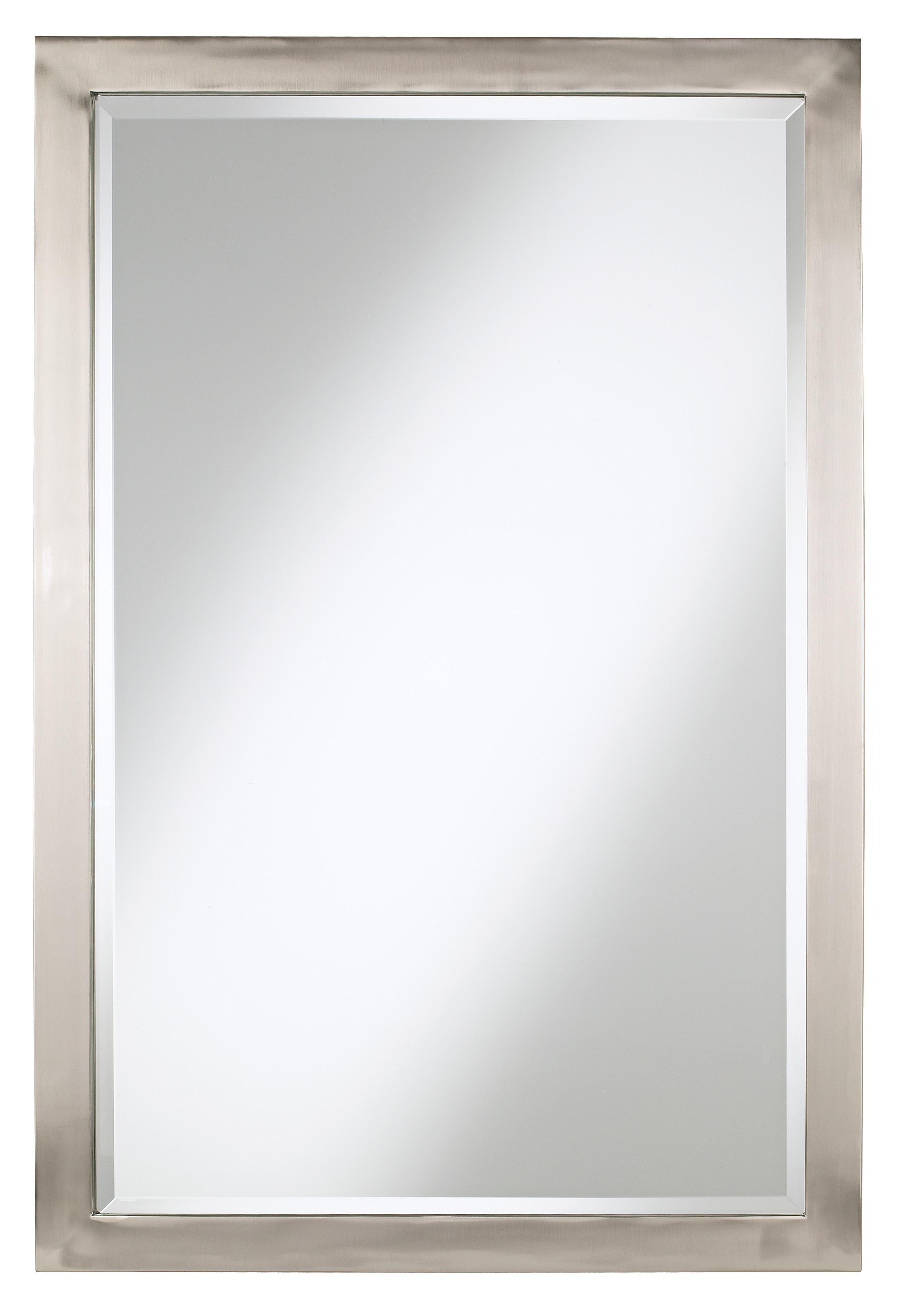 Metzeo 33 X 22 Brushed Nickel Wall Mirror T4543 Lamps Plus Metal Mirror Possini Euro Design Mirror Designs