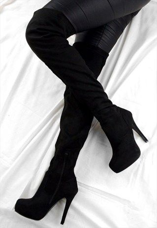 garment image | Boots, Fashion high heels, High boots outfit
