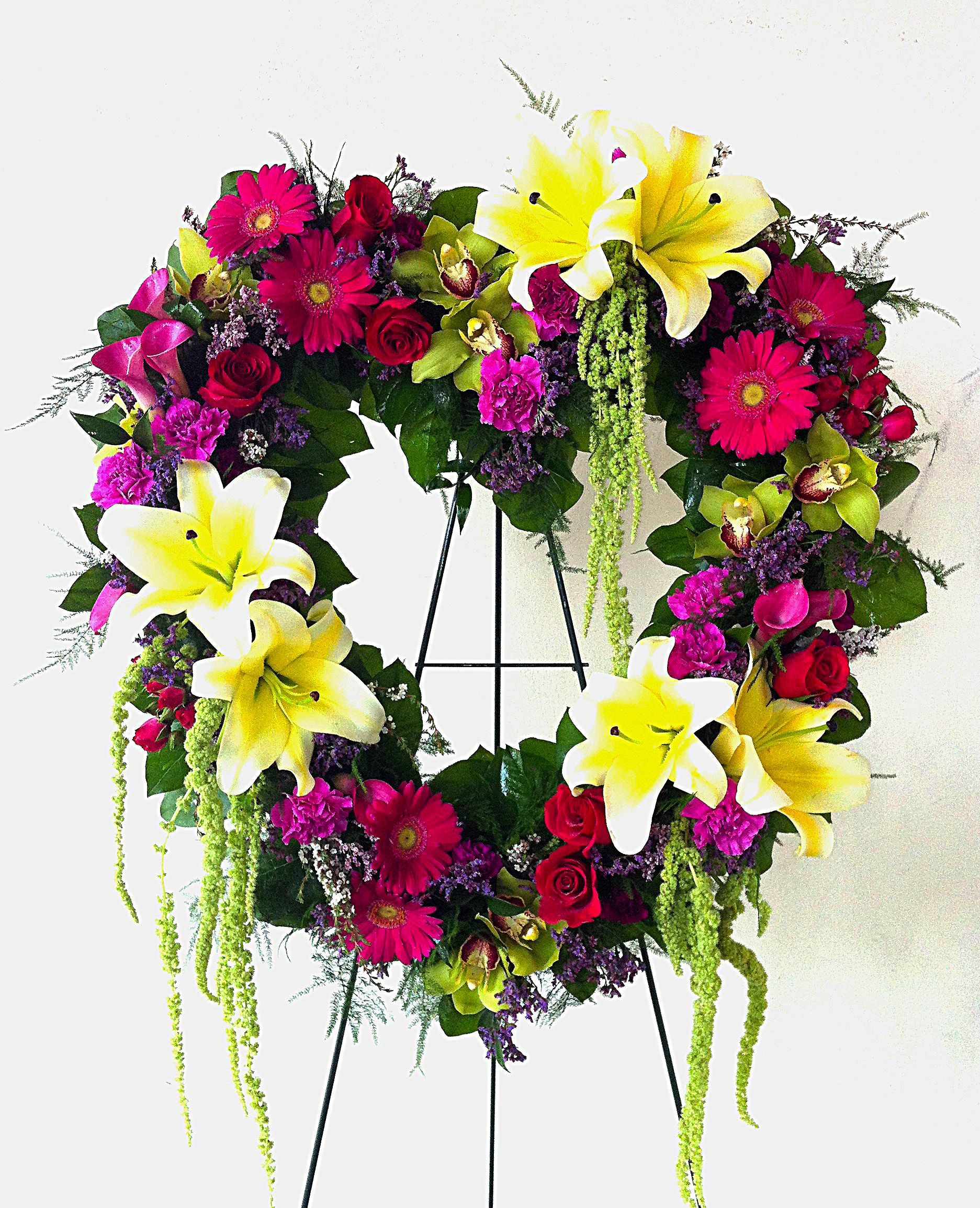 Heart Funeral Spray Sympathy flowers, Funeral flowers