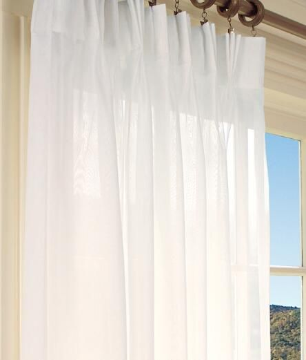 Rod Pocket Curtains D Country Pinch Pleat Sheer 144 Wide