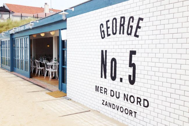 George No. 5 Mer du Nord: strandtent met zwembad in Franse sferen #zandvoort #zwembad #strandtent