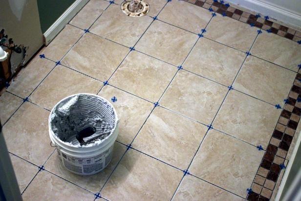 How To Install Tile On A Bathroom Floor Ceramic Floor Tiles